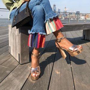 Platform heels in rose gold